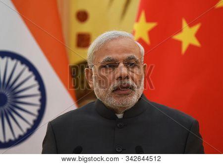 New Delhi,india,september 2019,india Prime Minister Narendra Modi Talking About Article 370