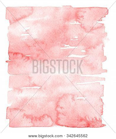Abstract Pink Painted Watercolor Texture As Background