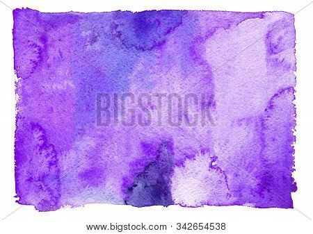 Abstract Violet Painted Watercolor Texture As Background