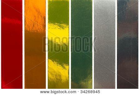 samples of metallic colors poster