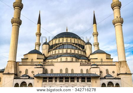 Kocatepe Camii, The Largest Mosque In Ankara, The Capital Of Turkey
