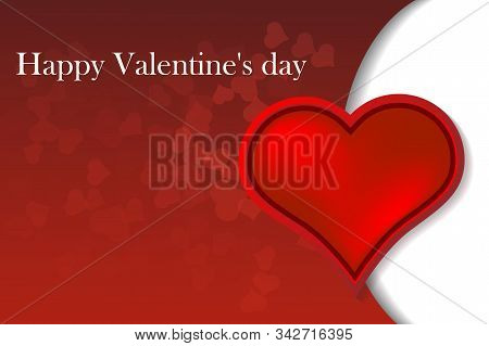 Vector Illustration Of A Valentines Day Card. Vector