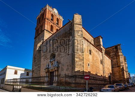 Zafra, Spain - Nov 06, 2019: Our Lady Of The Candelaria Church In Zafra. Badajoz. Spain. Europe. Par