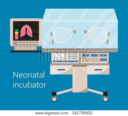 Infant Incubator And Neonatal Intensive Care With Air Temperature Humidity Oxygen Sensor For Sick Ba