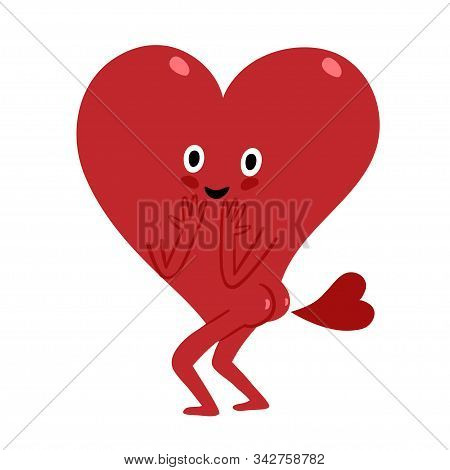Cute Cartoon Heart Farting With Heart.