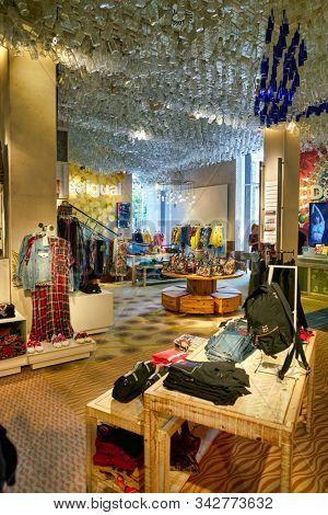 BERLIN, GERMANY - CIRCA SEPTEMBER, 2019: interior shot of a Desigual store in Berlin.