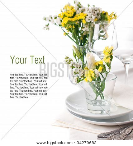 Festive Table Setting In Yellow, Template