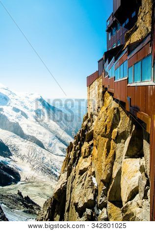 Aiguille du Midi mountain in french Apls