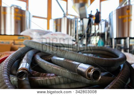 Food And Beverage Flexible Industrial Rubber Reinforced Hose, Brewery High Pressure Temperature Resi