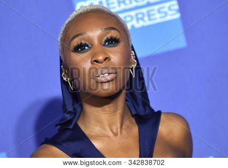 LOS ANGELES - JAN 02:  Cynthia Erivo arrives for the PSIFF Awards Gala 2020 on January 02, 2020 in Palm Sprimgs, CA