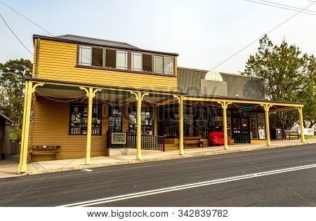 Cobargo, Nsw - December 20, 2019: Row Of Shops In The Main Street Of Cobargo In Nsw (new South Wales