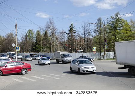 Vladimir, Russia April 30, 2019 Tchaikovsky Street 26 Vladimir Reconstruction Of The Park, Editorial