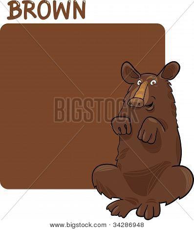 Color Brown And Bear Cartoon
