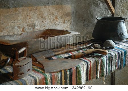 Exposition Of Khotyn Castle: All Kinds Of Household Items.