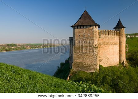 Khotyn Fortress And River Dniester General View