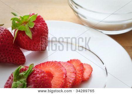 Strawberries and sugar