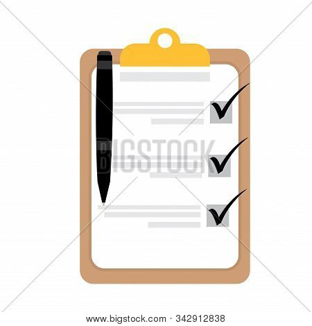 Isolated Activity Checklist Image - Vector Illustration Design