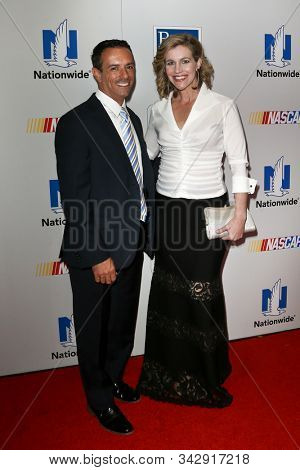 NEW YORK - SEPTEMBER 27: Mike Massaro (L) and Krista Voda attend the 2016 NASCAR Foundation Honors Gala at Marriott Marquis on September 27, 2016 in New York City.
