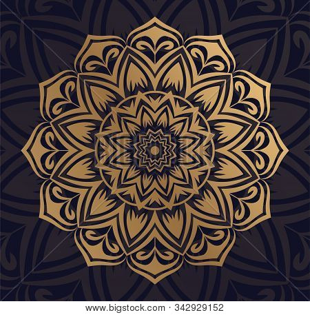 Vintage vector handmade round mandala elements. Luxury festive background. invitations with a mandala pattern. Islamic, Arab, Indian, Turkish, Ottoman, Pakistani ornaments
