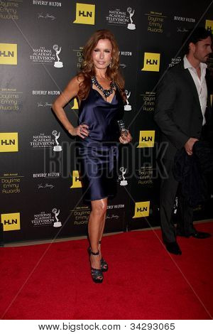 LOS ANGELES - JUN 23:  Tracey E Bregman arrives at the 2012 Daytime Emmy Awards at Beverly Hilton Hotel on June 23, 2012 in Beverly Hills, CA