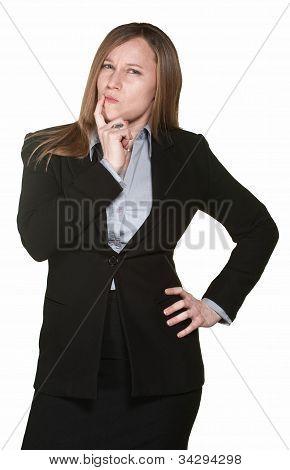Doubtful Business Woman