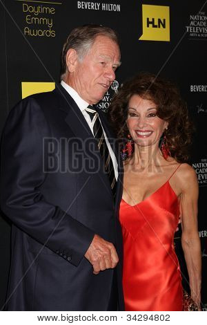 LOS ANGELES - JUN 23:  Helmut Huber, Susan Lucci arrives at the 2012 Daytime Emmy Awards at Beverly Hilton Hotel on June 23, 2012 in Beverly Hills, CA
