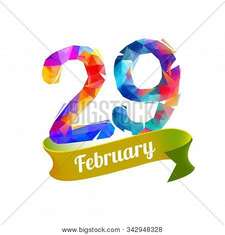 February 29. Leap Day. Vector Colorful Memory Card