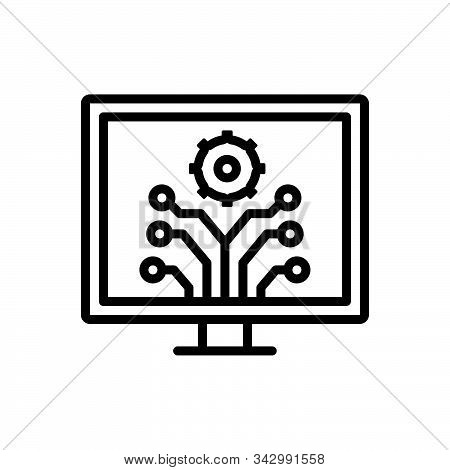 Black Line Icon For Development  Innovation  Evolution Progress Advancement Upgrade