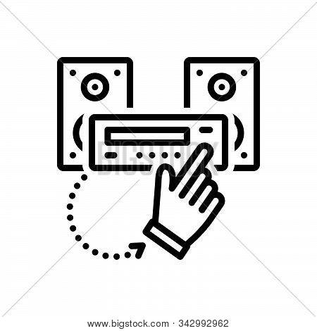 Black Line Icon For Undertake Accept Concede Recognize