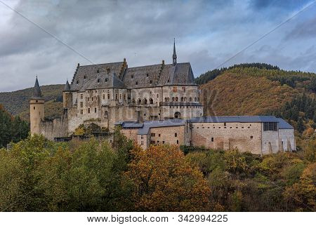 Vianden Castle, Luxembourgs Best Preserved Monument, One Of The Largest Fortified Castles West Of Th