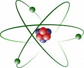 Atom Model of Lithium with Protons, Neutrons and Electrons poster