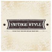 Old brown color retro grunge label background with ribbon and vintage style. EPS 10. Can be use as banner, label, tag or sticker. poster