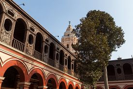 Lima, Peru - September 5, 2015: A Courtyard In The Convento Santo Domingo.