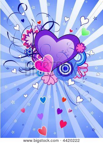 St.valentine's Day Blue Background