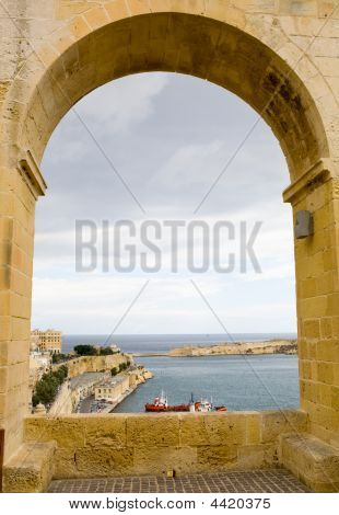 Archway To The Port Of Valetta
