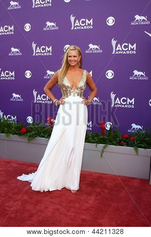LAS VEGAS - MAR 7:  Nancy O'Dell arrives at the 2013 Academy of Country Music Awards at the MGM Grand Garden Arena on March 7, 2013 in Las Vegas, NV