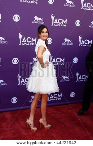 LAS VEGAS - MAR 7:  Kacey Musgraves arrives at the 2013 Academy of Country Music Awards at the MGM Grand Garden Arena on March 7, 2013 in Las Vegas, NV