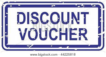 Discount Voucher Rubber Stamp