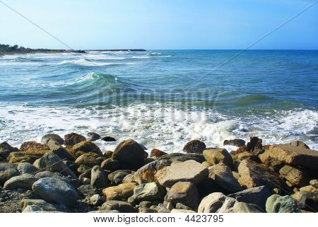 Beach And Rock