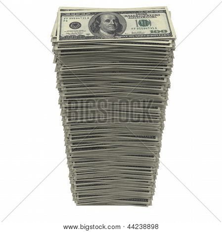 Stack of dollars