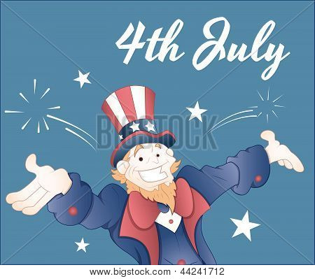 The Fourth of July Greeting Card