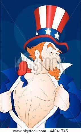 Illustration of Patriotic Uncle Sam