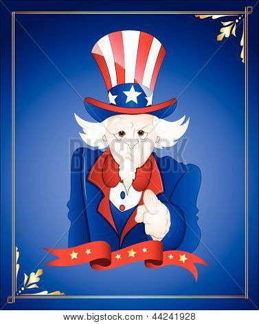 4th of July Uncle Sam Card