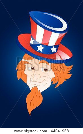 Face of Patriotic Uncle Sam