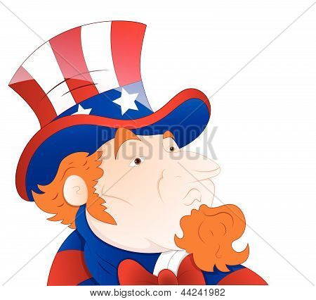 Vector Illustration of Uncle Sam