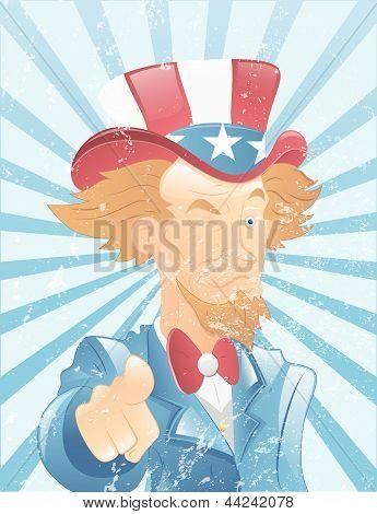 Winking Uncle Sam Vintage Art