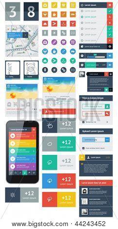 UI ist eine Reihe von schönen Komponenten mit den flache Design-trend