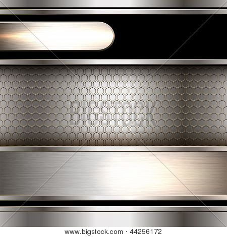 Abstract background, metallic banners
