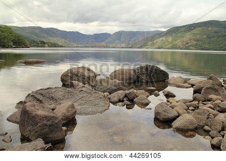 Lake Sanabria. Natural Park of Lake Sanabria, Zamora.