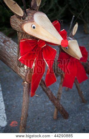 Decorative wooden deer